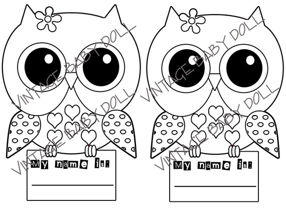 5 Images of Cute Printable Owls To Color