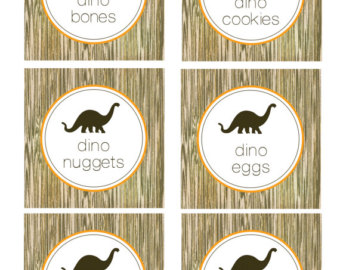 5 Images of Dinosaur Theme Food Printables