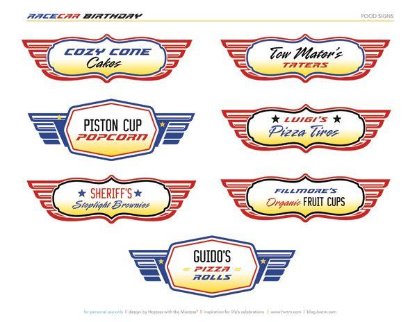 9 Images of Printables Disney Pixar Cars Signs