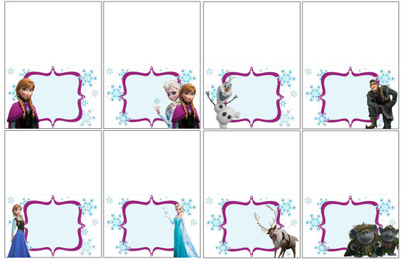 8 Images of Disney Frozen Food Labels Printable Free