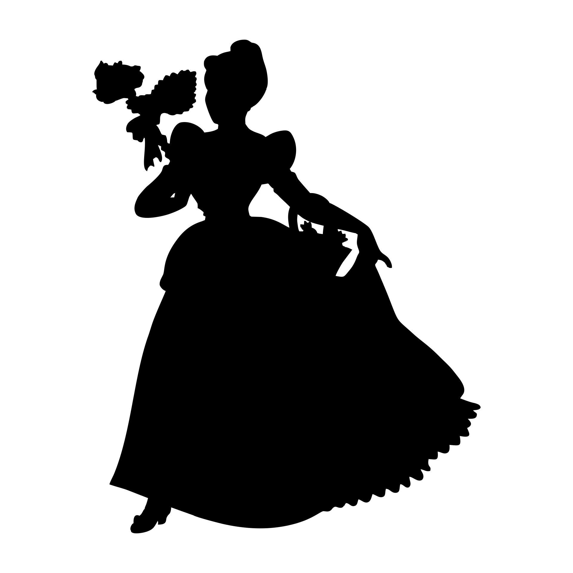 Disney Princess Silhouette Clip Art