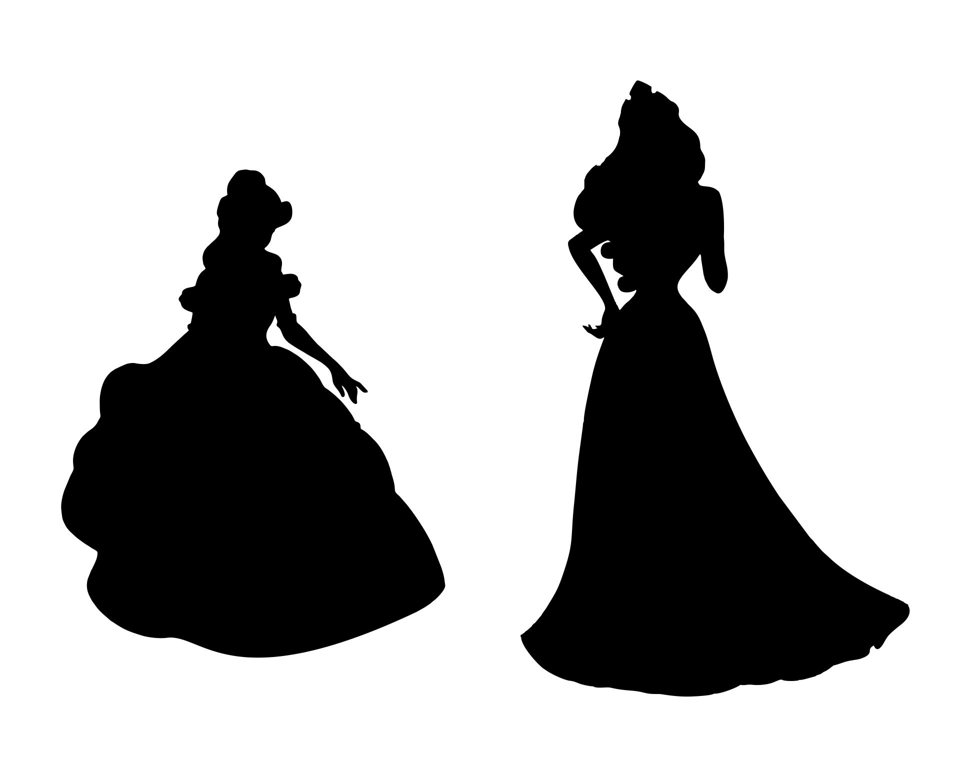 Disney Princess Silhouette Printables