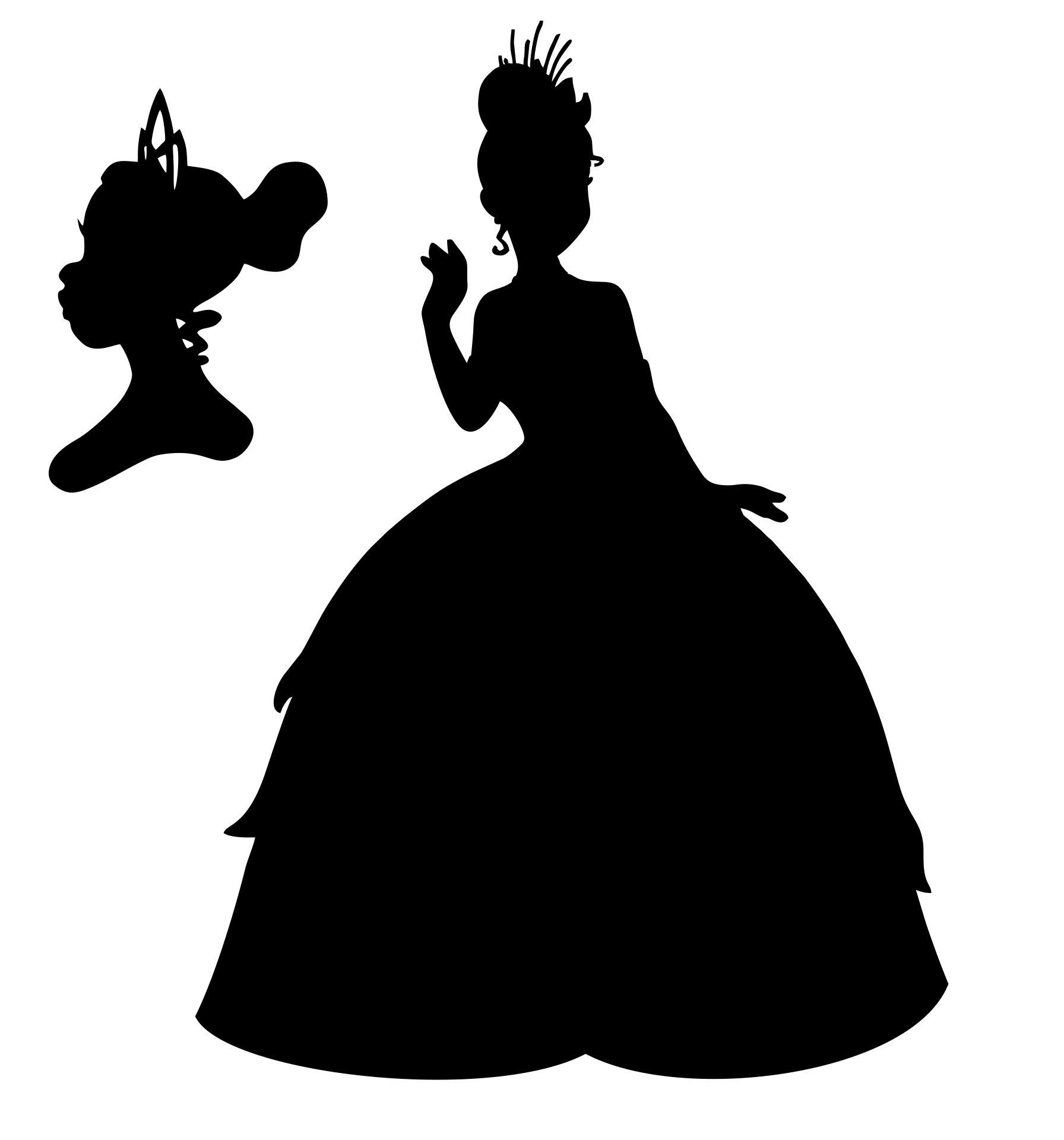 Disney Princess Tiana Silhouette