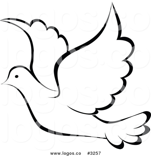 Dove Outline Clip Art 5 best images of dove outline printable - peace ...