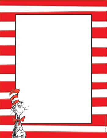 5 Images of Dr. Seuss Printable Border Paper Free