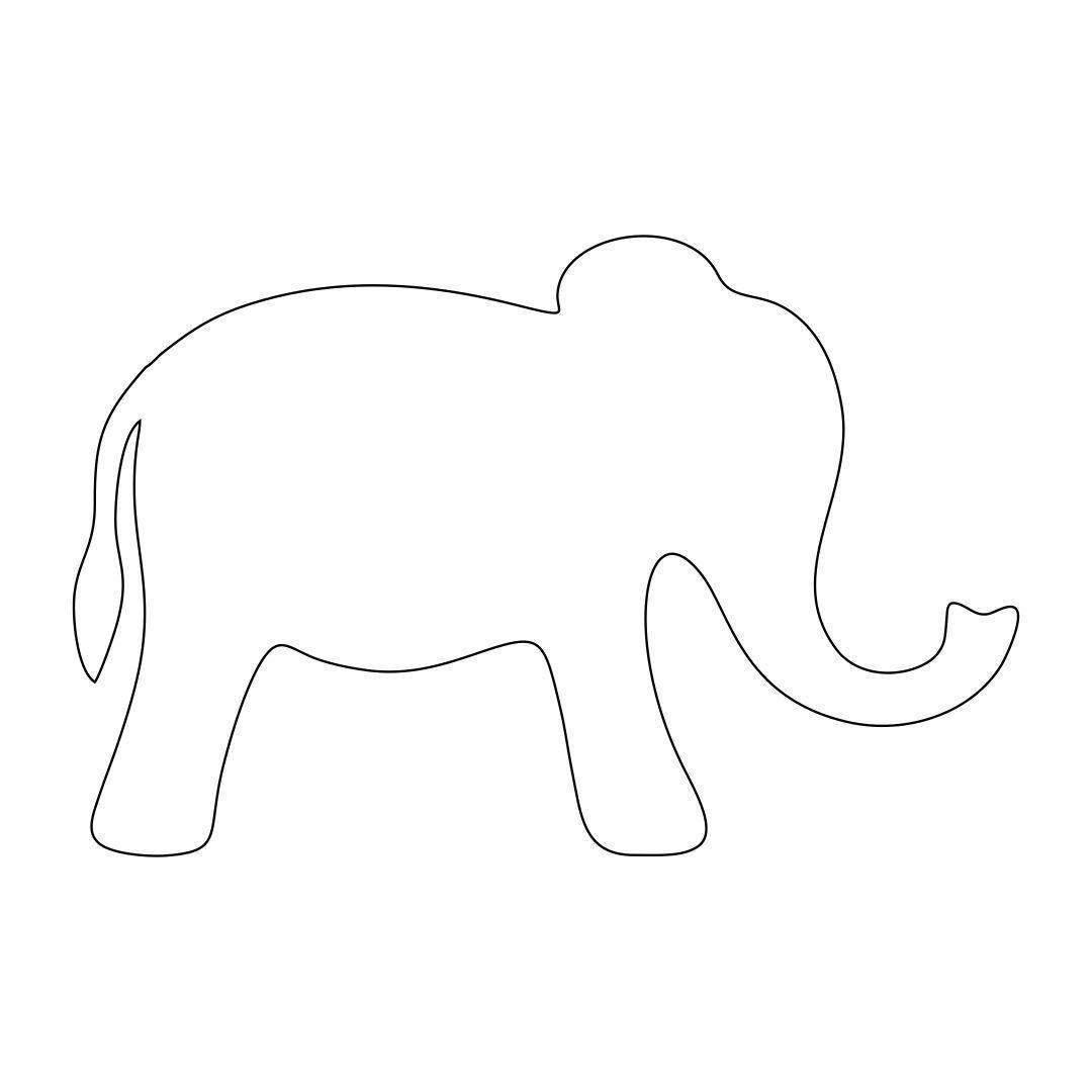 Elephant Template Printable