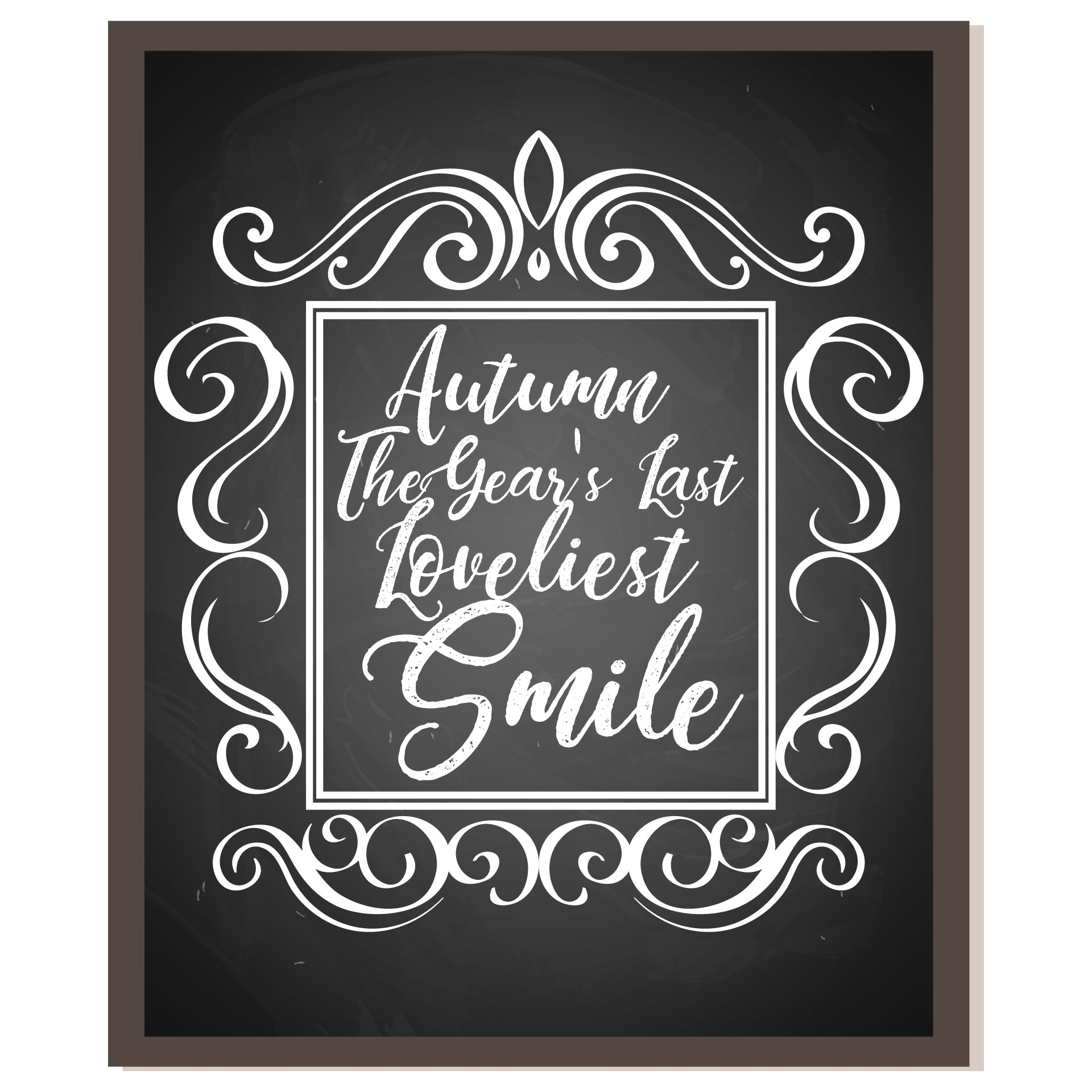Fall Chalkboard Art Printables Free
