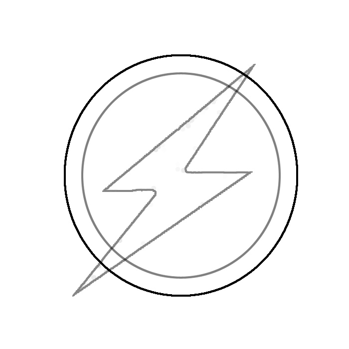 Gallery For gt Flash Symbol Black And White
