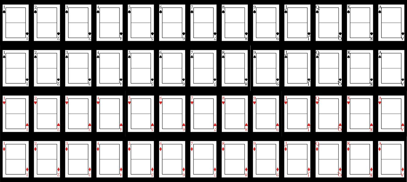 7 best images of playing card printable templates playing card template blank playing card. Black Bedroom Furniture Sets. Home Design Ideas