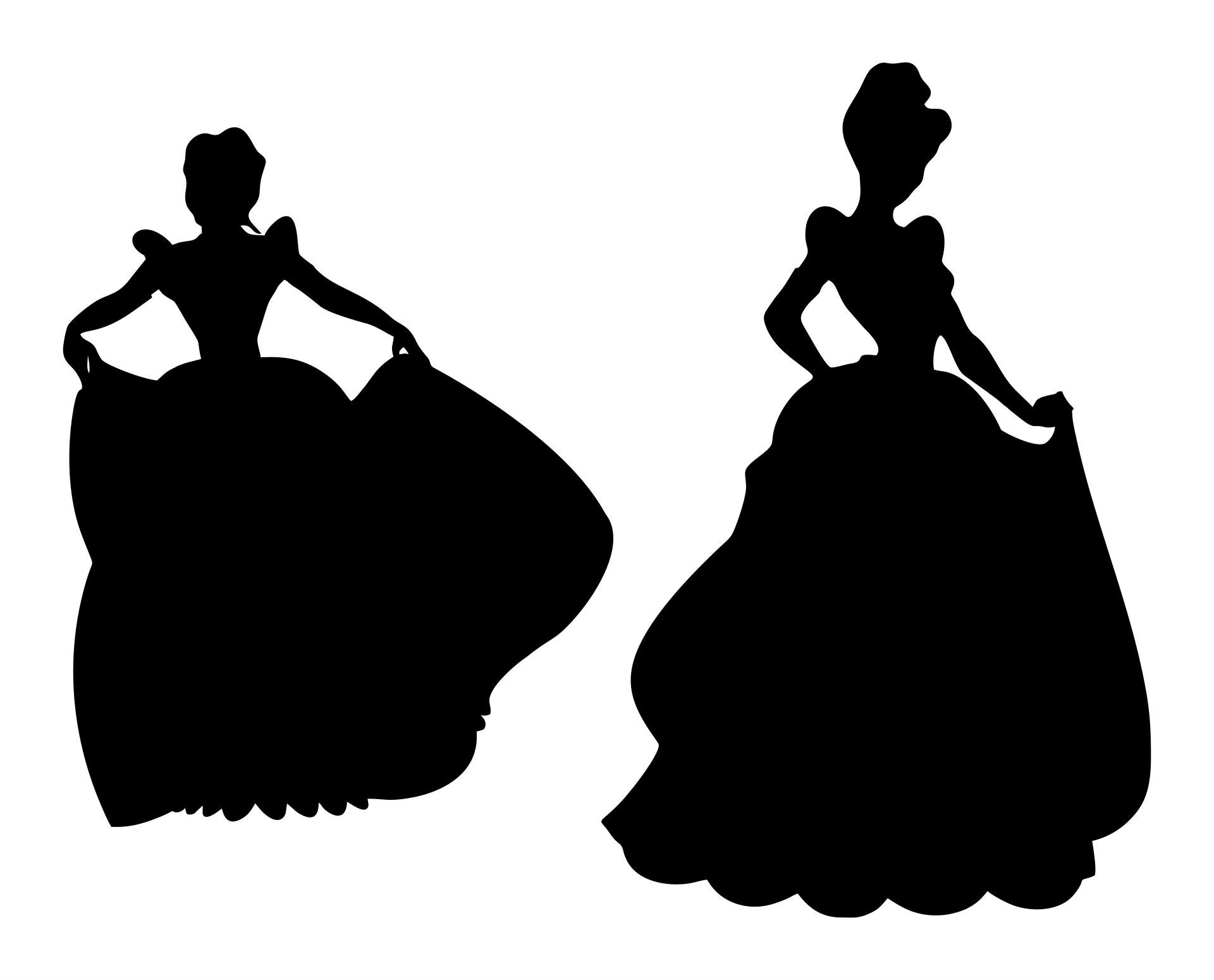 8 Images of Free Printable Princess Silhouette