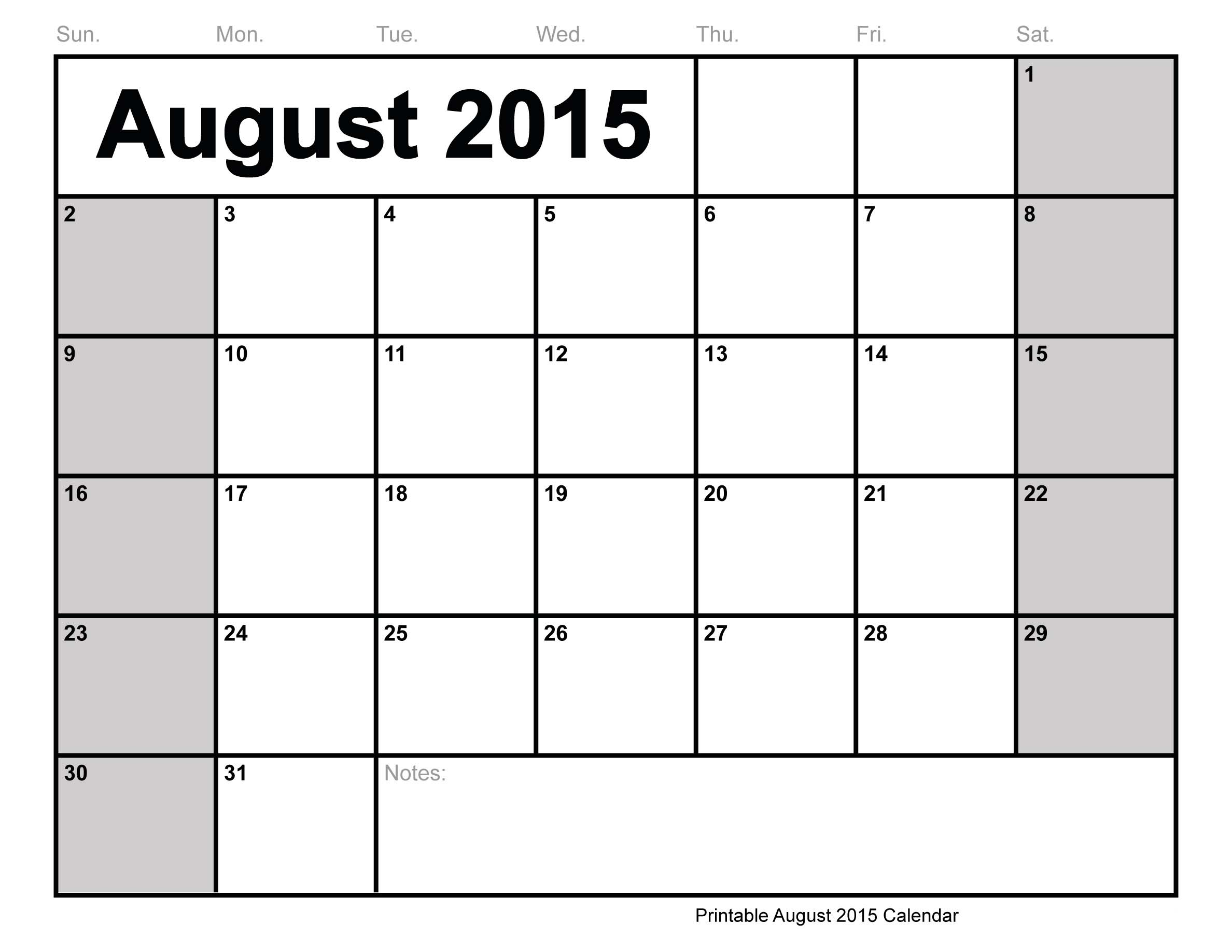 5 Images of Printable Calendar