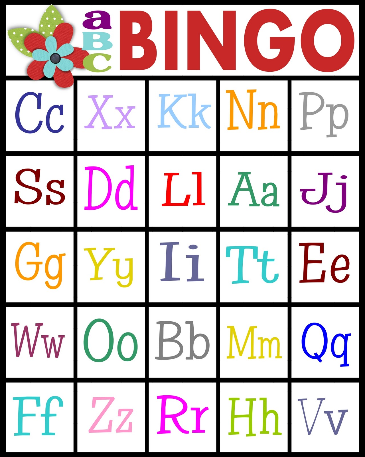 5 Images of ABC Bingo Printable