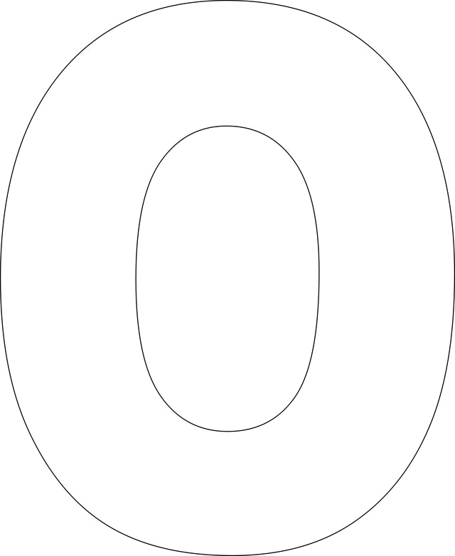 6 Images of Large Printable Letter O