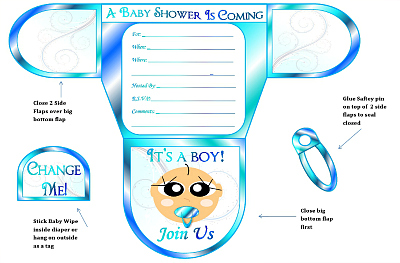 7 Images of Diaper Shower Invitations Printable