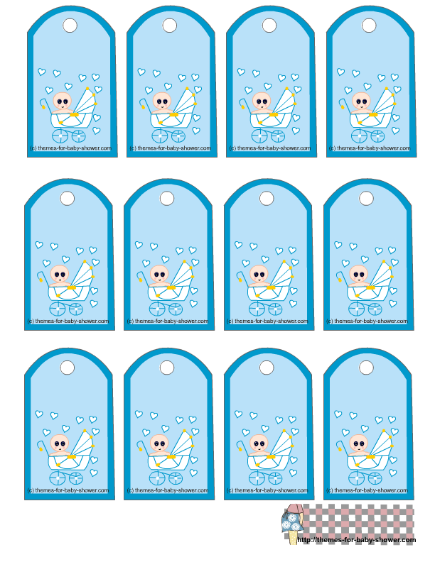 7 Images of Free Printable Favor Tags Baby Shower