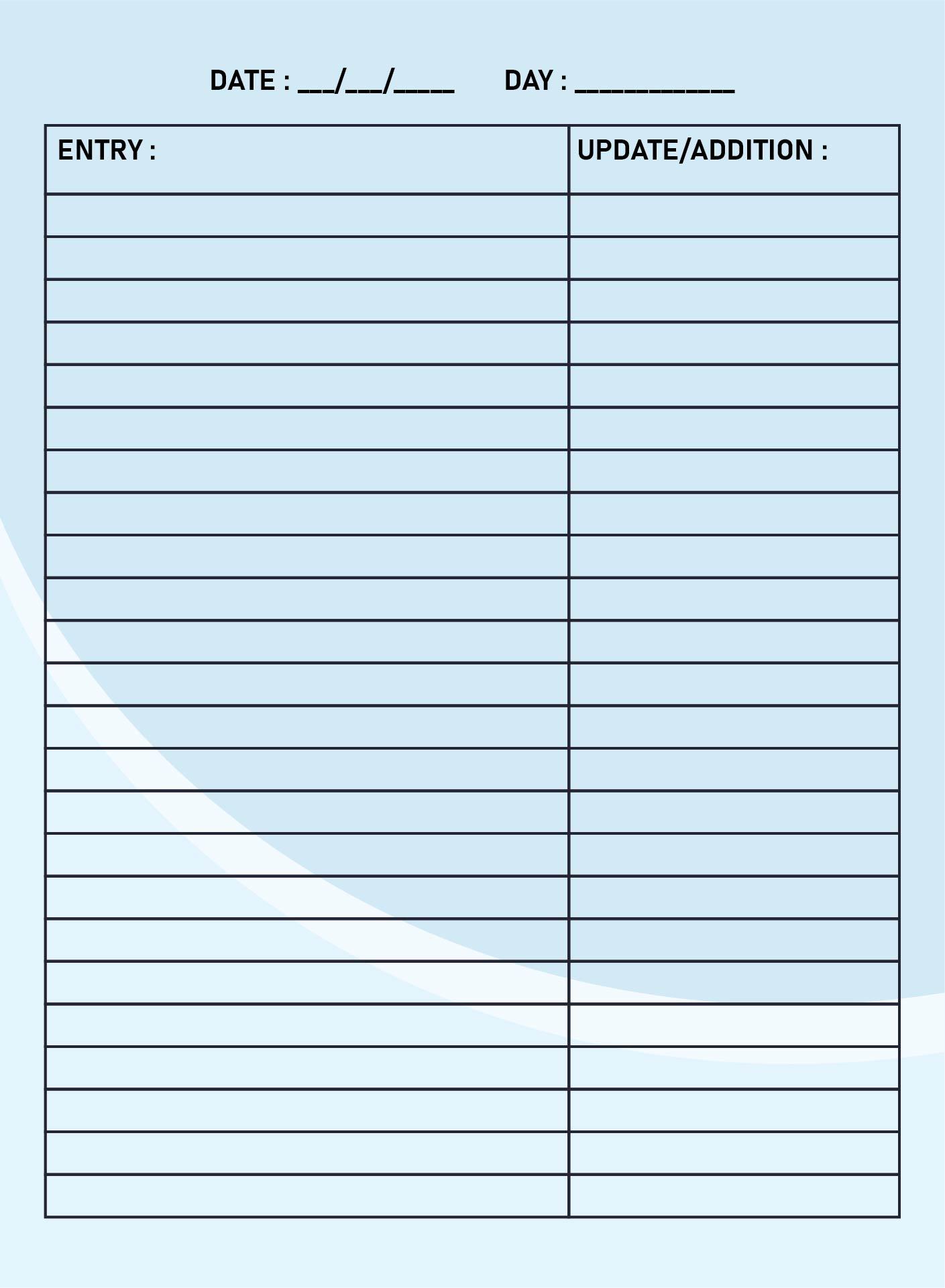 Printable Blank Forms