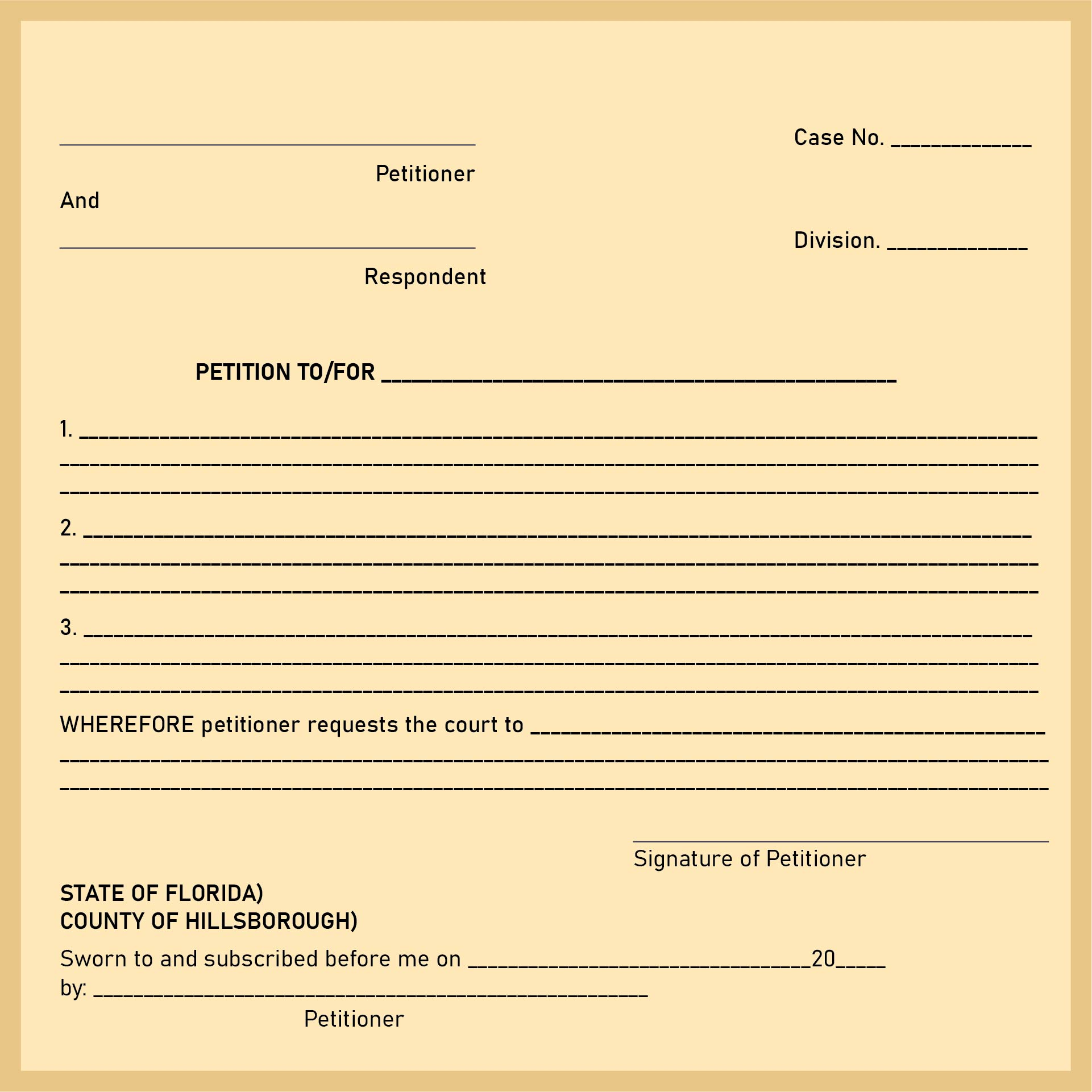 9 best images of free printable blank order forms free for Petition template to print