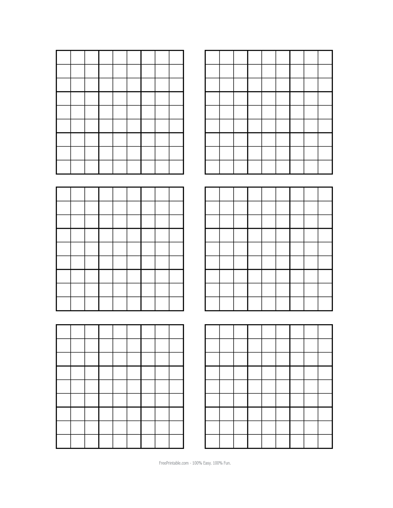 Remarkable image throughout blank sudoku grid printable