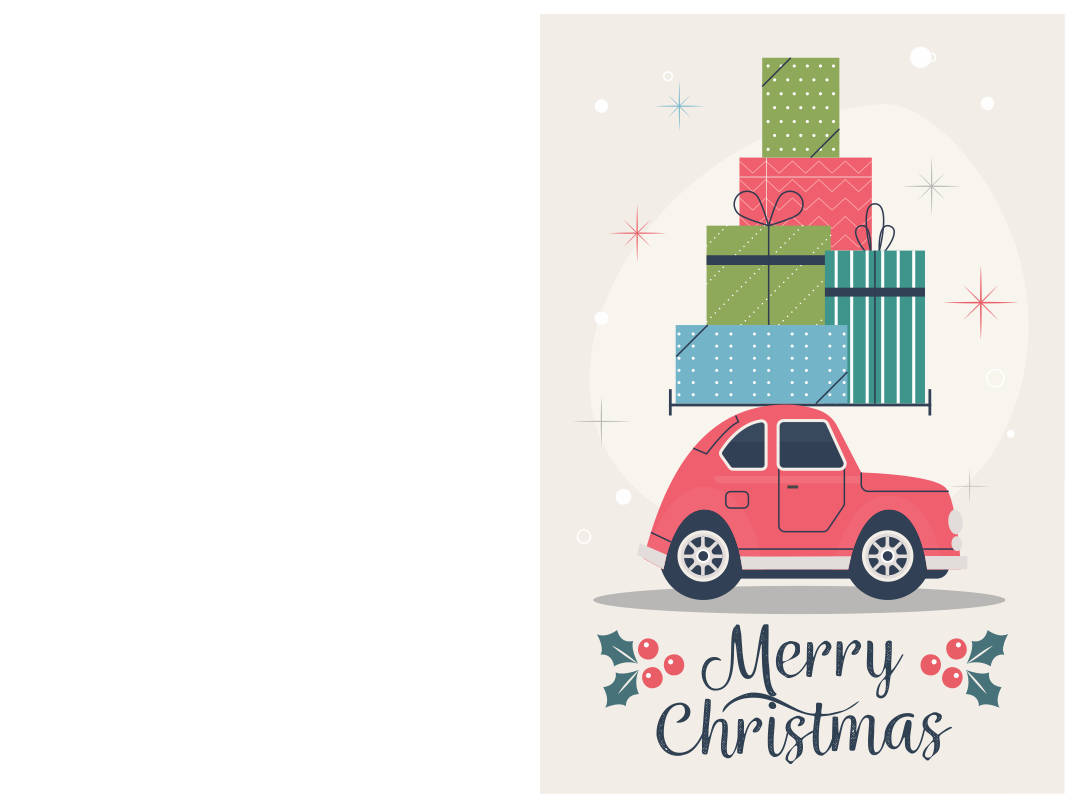 5 Images of Free Printable Christmas Greeting Cards