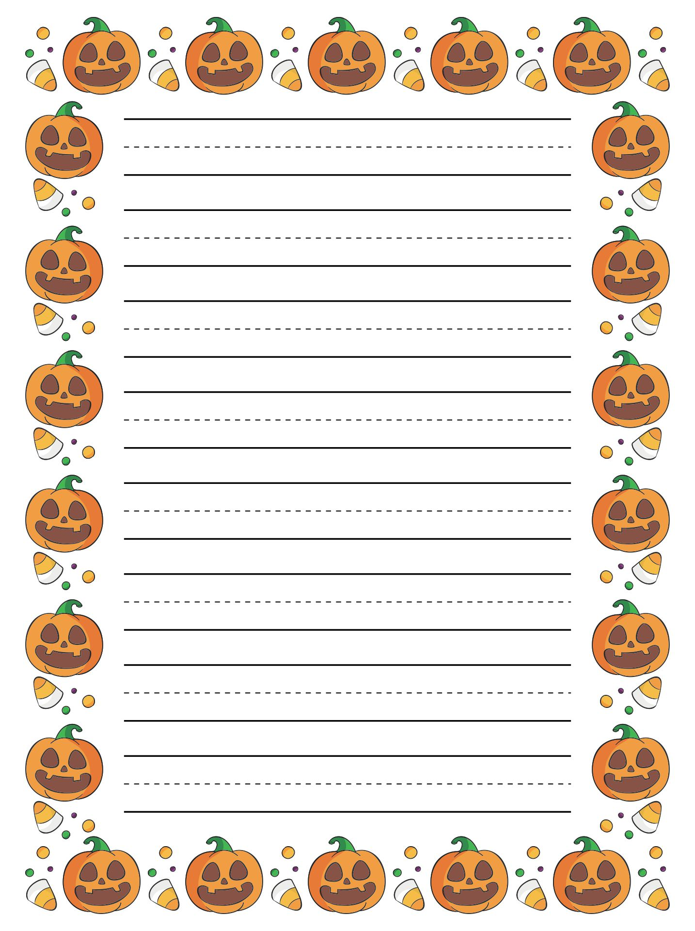 4 Images of Free Printable Halloween Letter Head