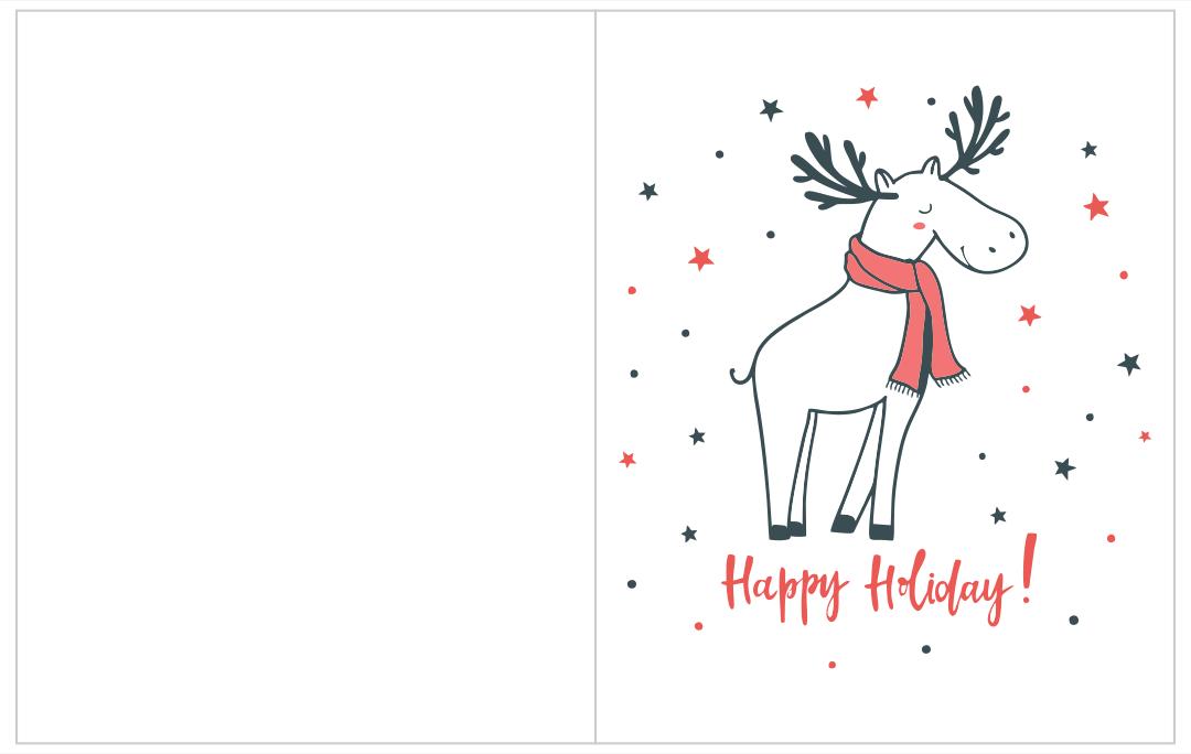 Printable Holiday Greeting Cards