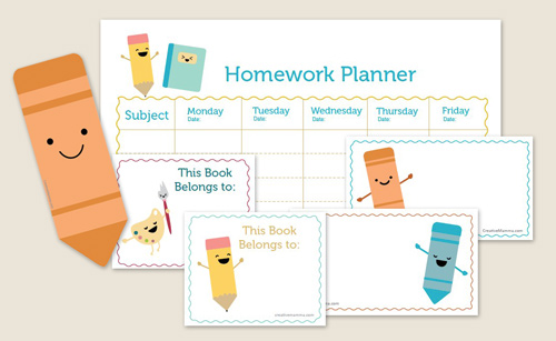 4 Images of Kawaii Planner Printable