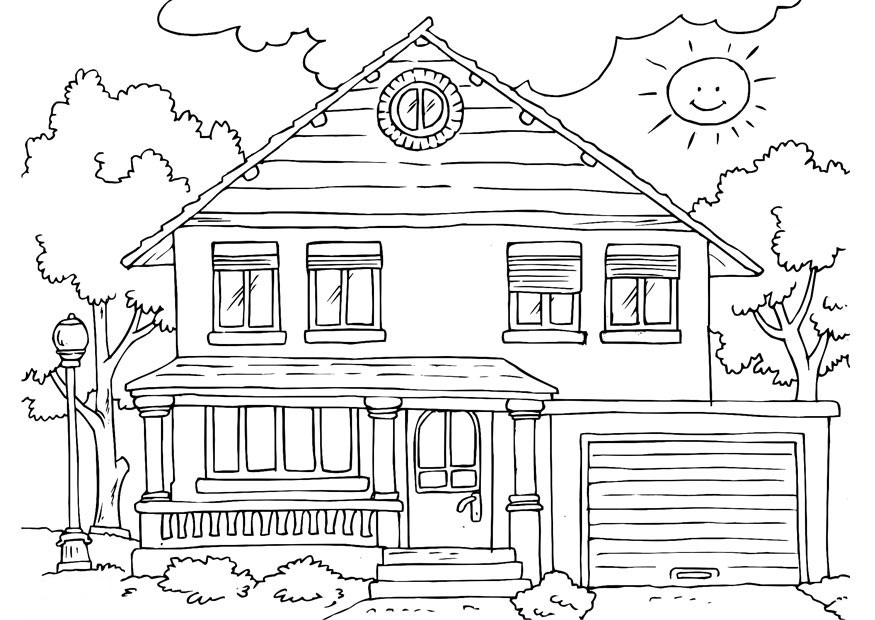 5 Images of House Coloring Pages Printable