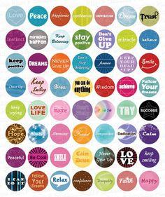 Free Printable Inspirational Word Circle