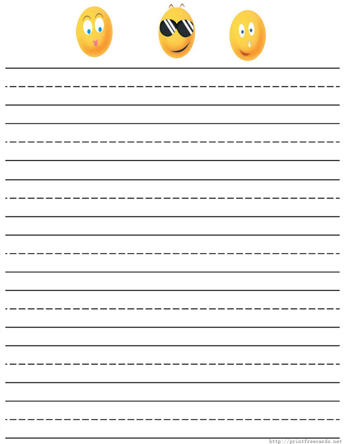 8 Images of Printable Lined Writing Paper For Kids