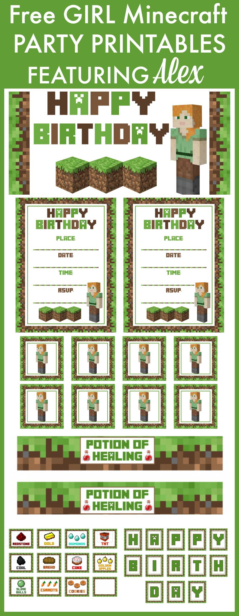 Free Printable Minecraft Girls