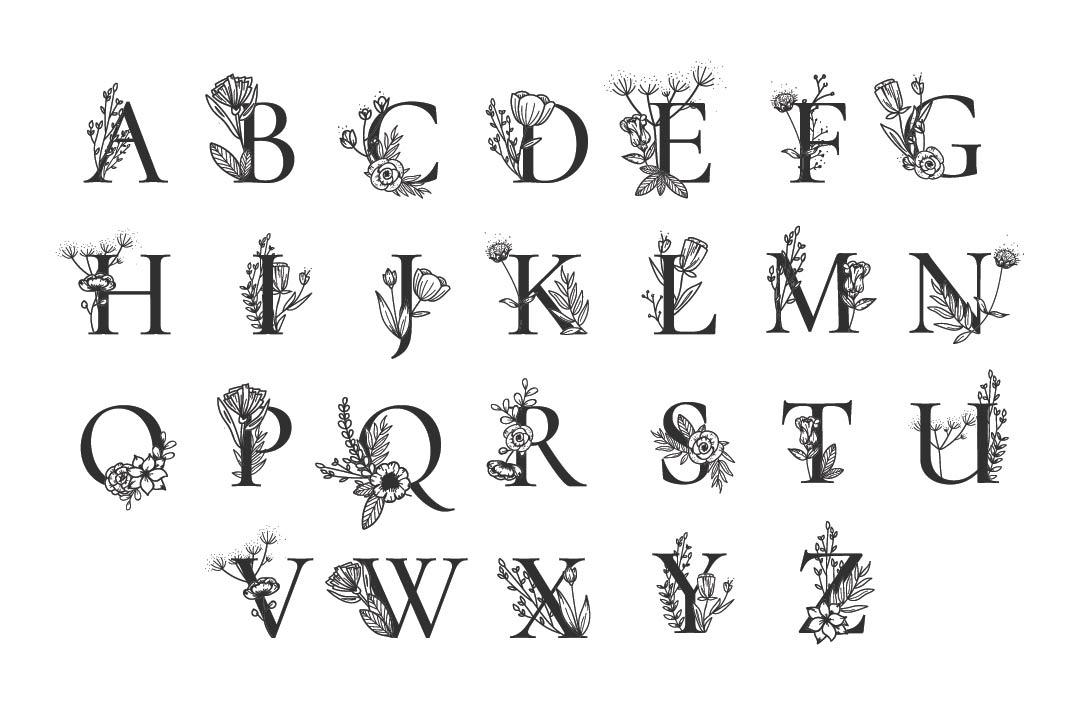 Printable Monogram Letters