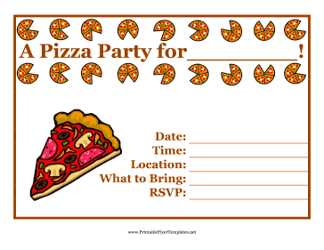 9 Images of Free Printable Pizza Party Flyers
