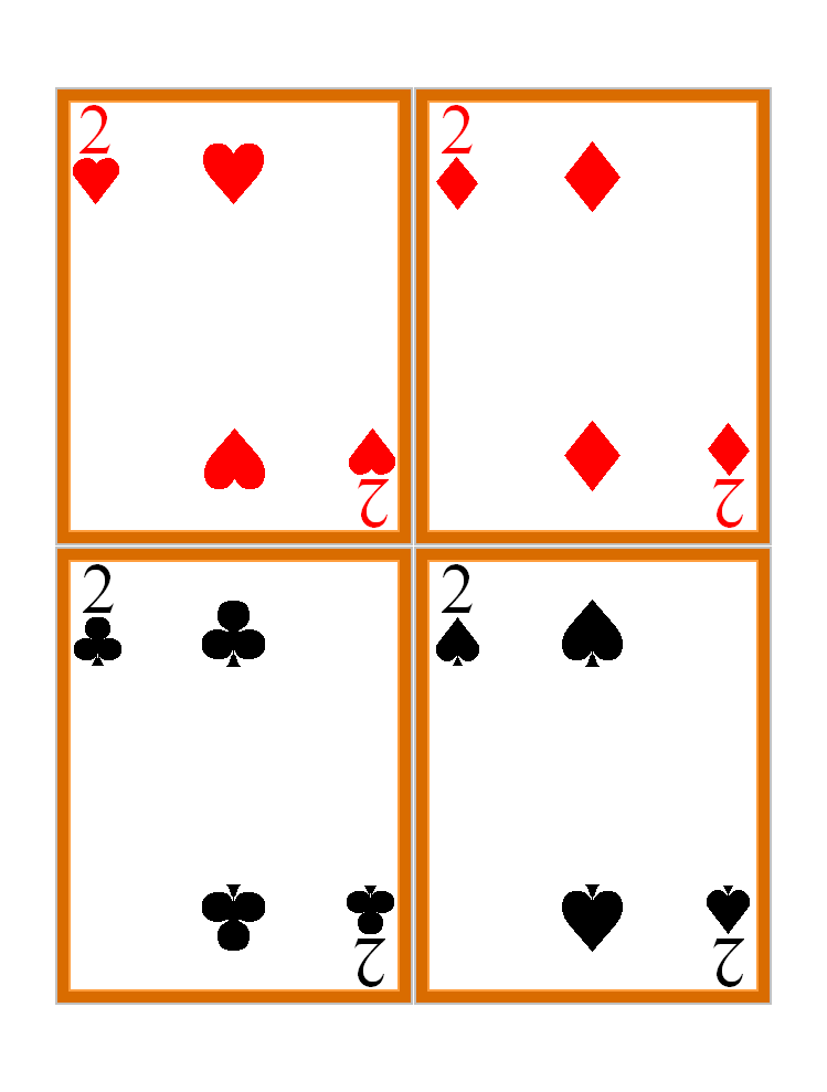 Hilaire image with printable playing card template