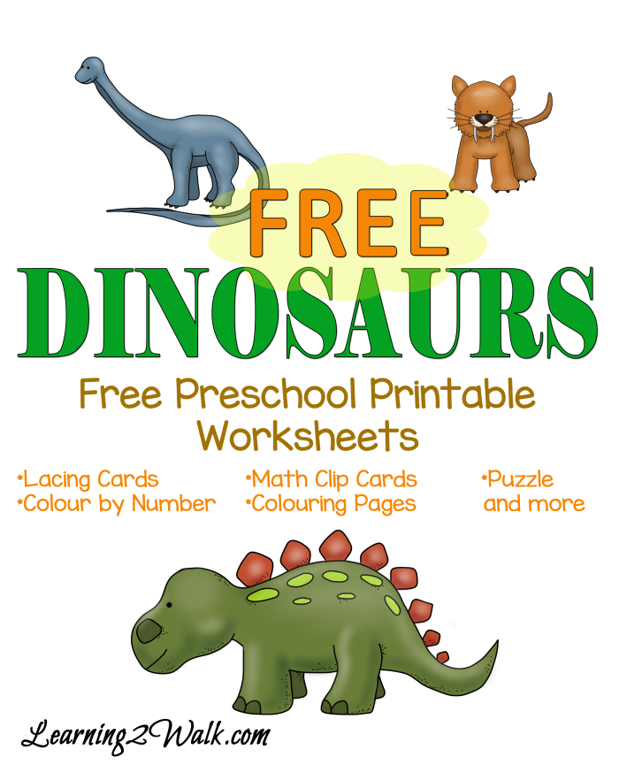 Free Printable Preschool Worksheets Dinosaurs
