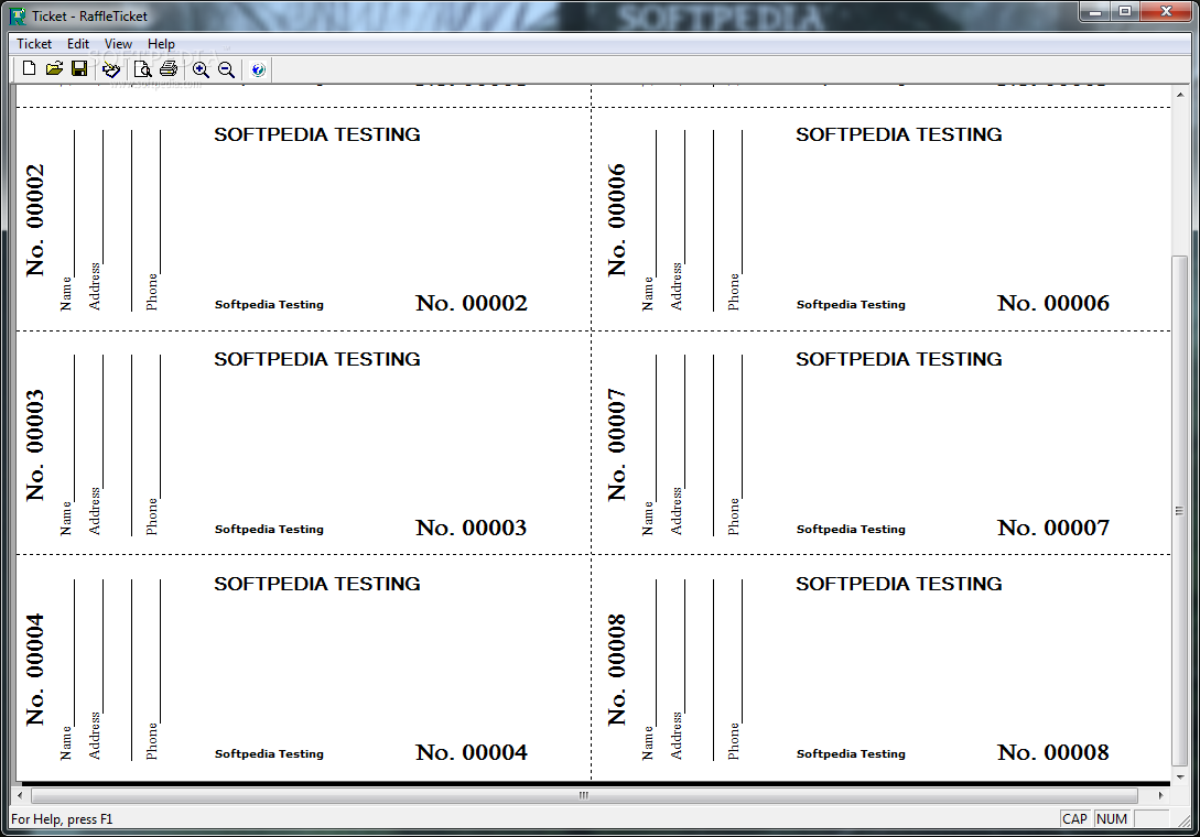 4 Images of Free Printable Raffle Ticket Templates