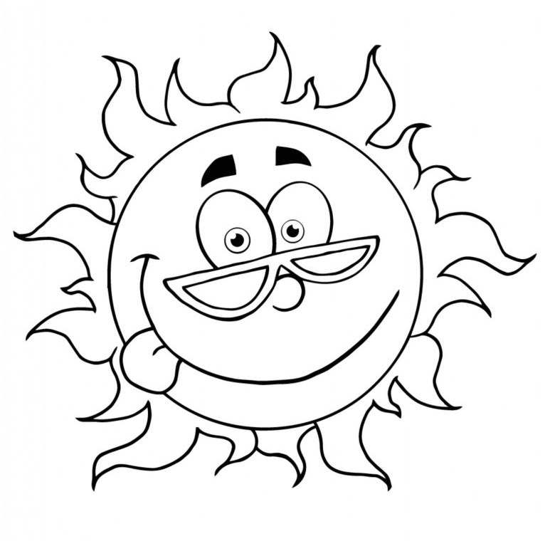 5 Images of Summer Fun Coloring Pages Printable