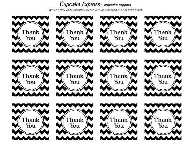 6 Images of Black White Chevron Printable Gift Tags