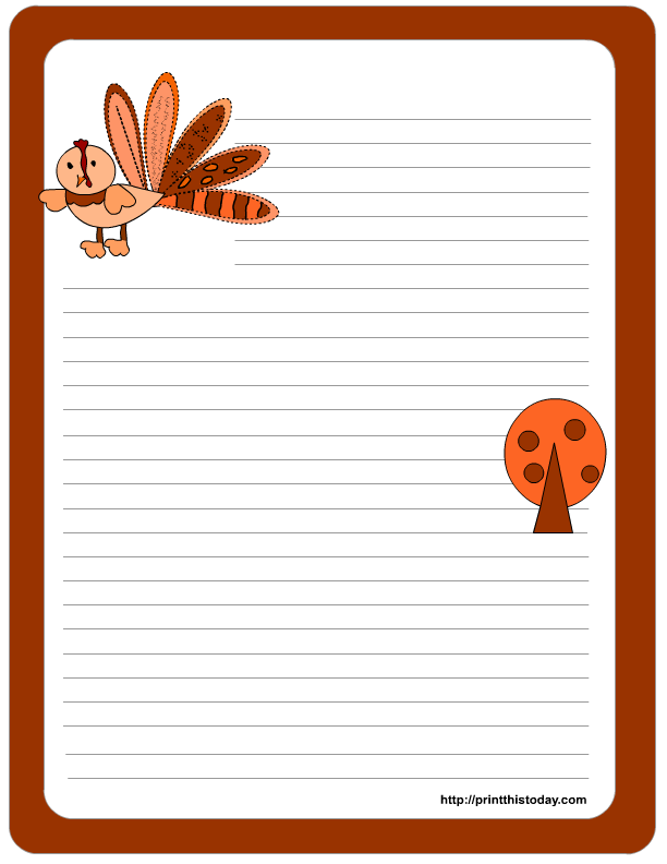 4 Images of Thanksgiving Free Printable Paper