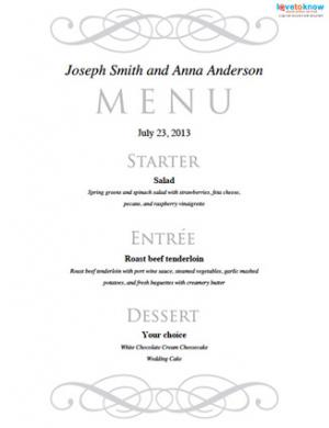 free menu templates for dinner party - 7 best images of dinner party menu templates free