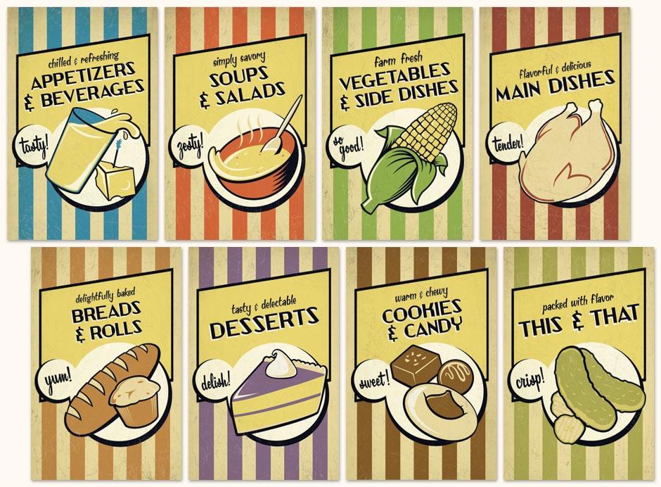 Recipe Book Dividers for Cookbook