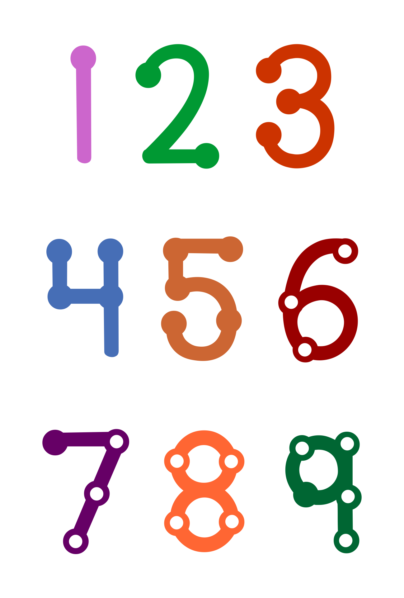 math worksheet : 4 best images of touchmath numbers 1 9 printable  free touch math  : Free Touch Math Addition Worksheets