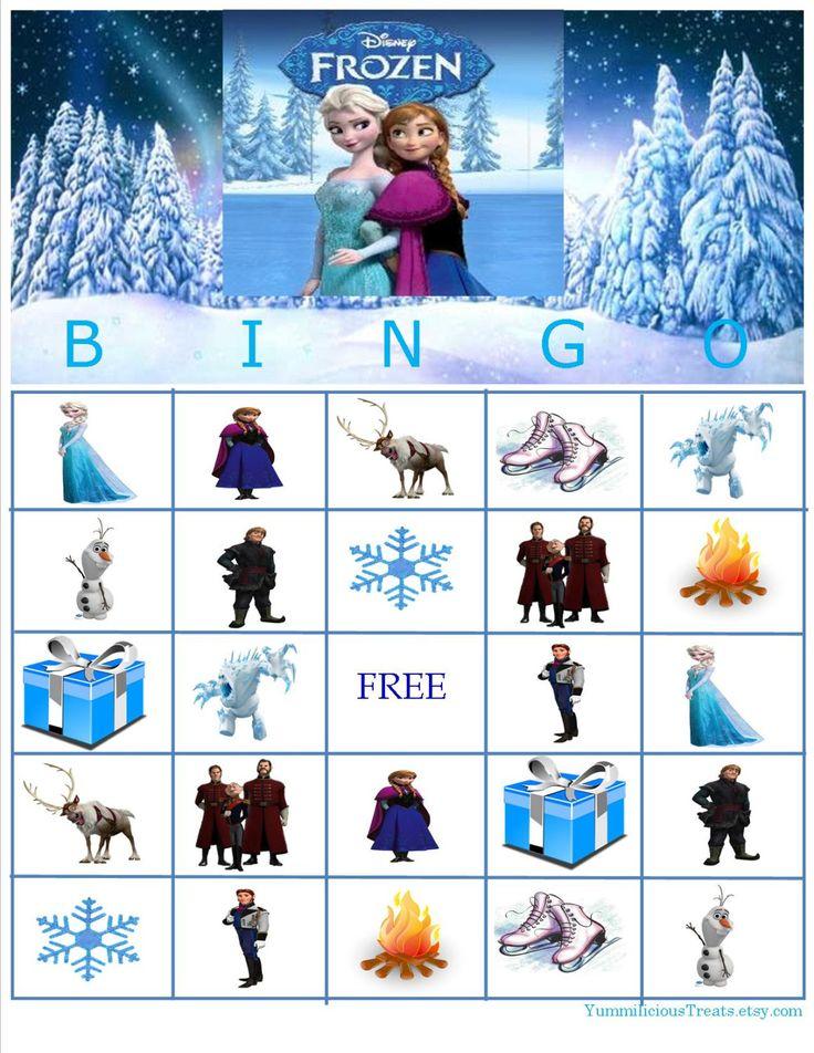 9 Images of Disney Frozen Bingo Printable