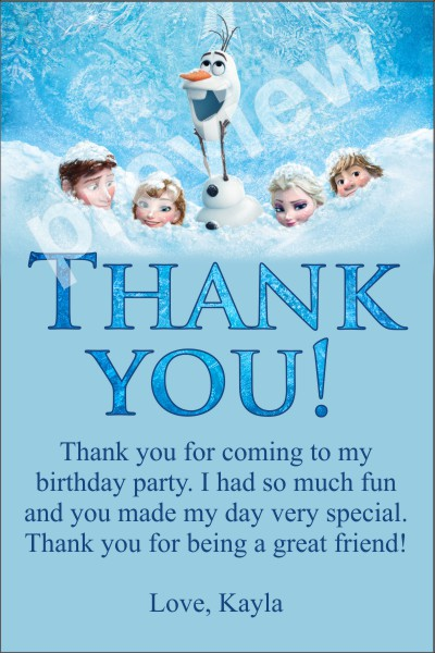 6 Images of Free Printable Frozen Thank You Tags Templates