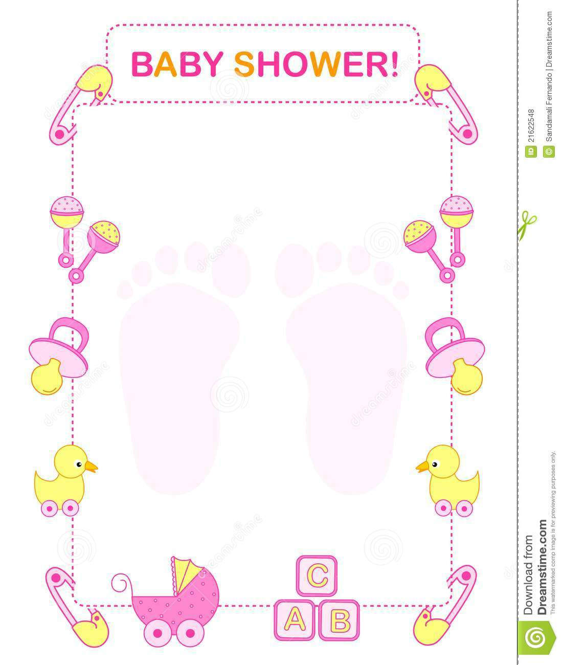 4 Images of Printable Baby Shower Borders