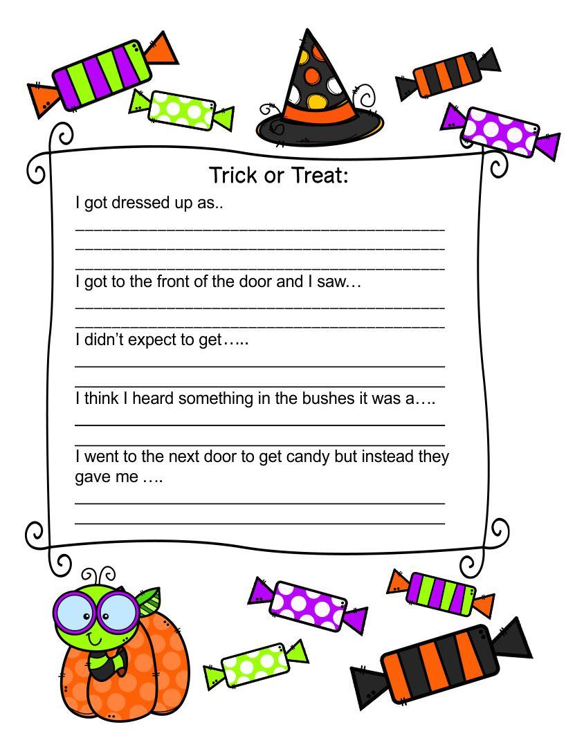 Halloween Handwriting Worksheets