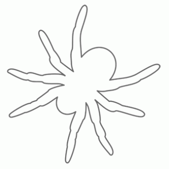 7 Images of Spider Cutouts Printable