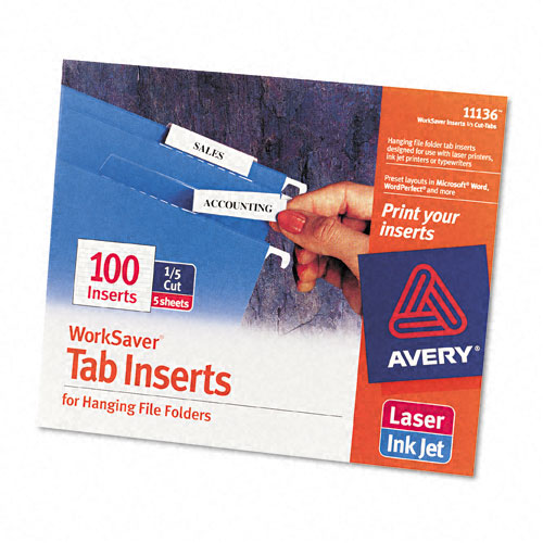 6 Images of Printable Tab Inserts Avery