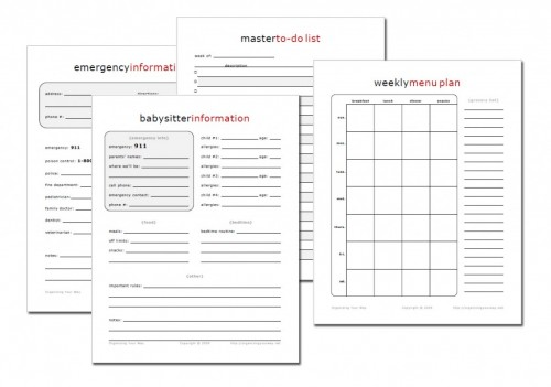 Home Management Notebook Printables