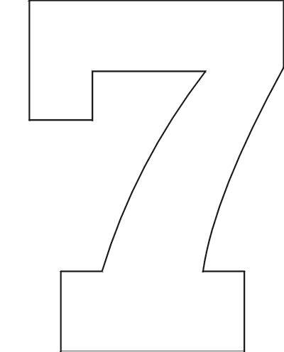 8 Images of Large Printable Number Stencil 7