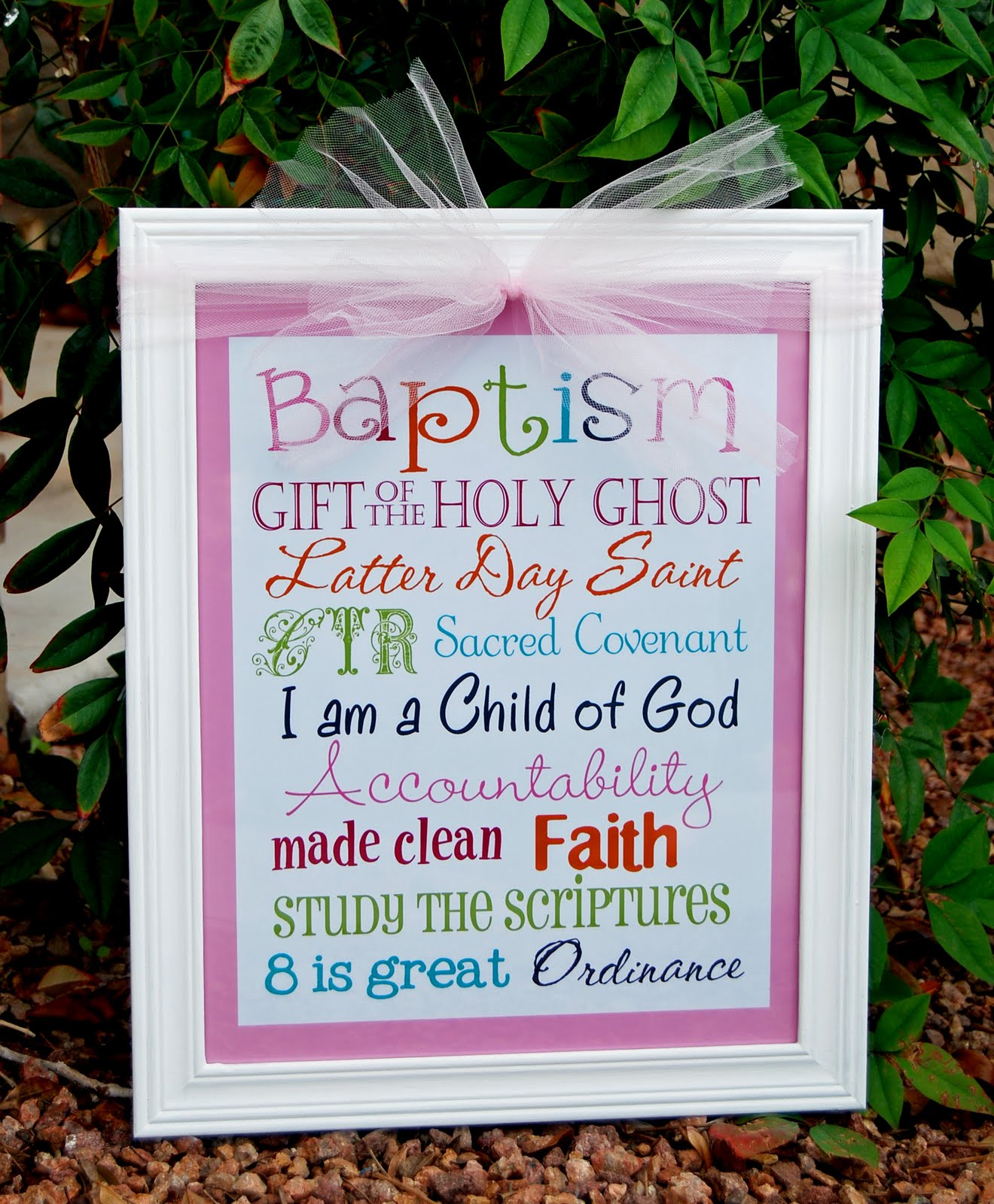 5 Images of LDS Baptism Subway Art Printables Free